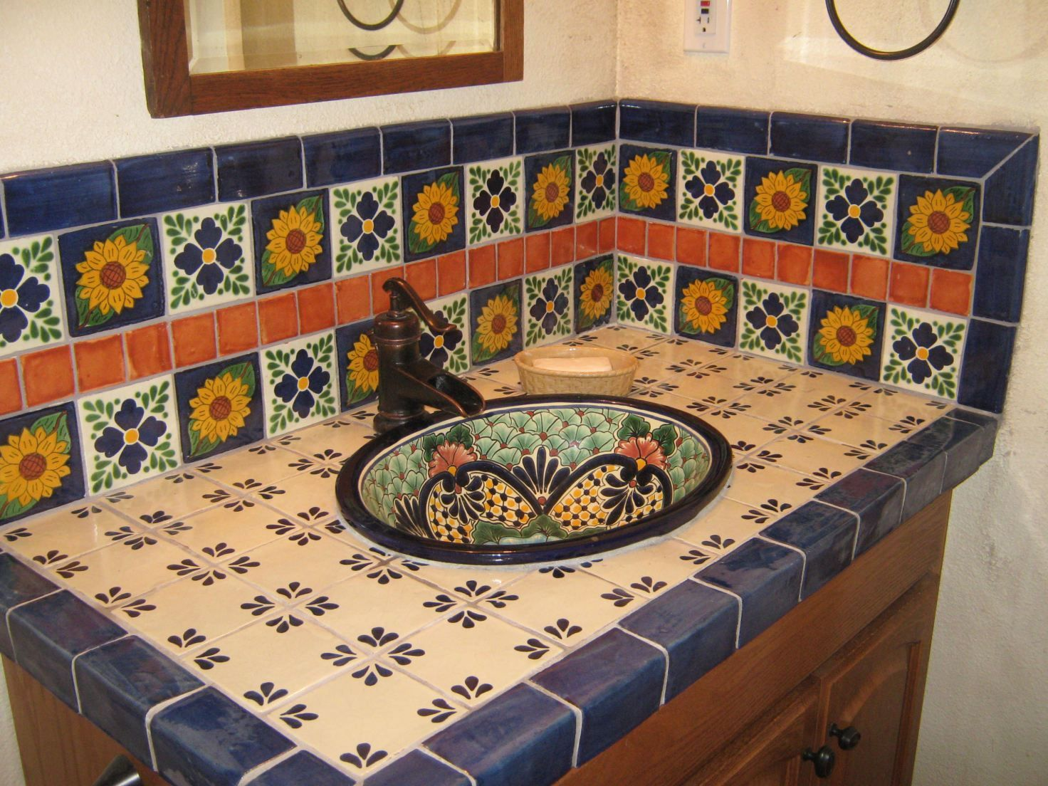 - Talavera Tiles Mexican Home Decor, Ceramic Tile Backsplash