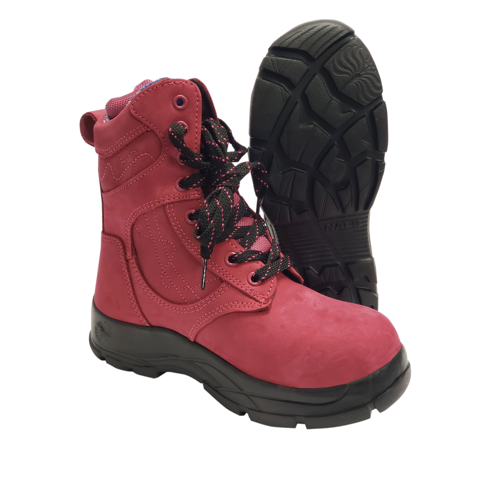 8 Inch Ultra Light Work Boot With Steel Toe Raspberry Boots Light Work Boots Steel Toe