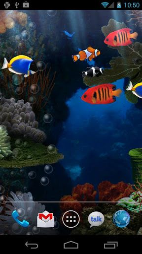 Aquarium Live Wallpaper V3 05 Apk Requirements Android 2 1 And Up Overview Aquarium Live Wallpaper Puts Tropical Fish In The Palm Of Your Ha Animaux Poisson
