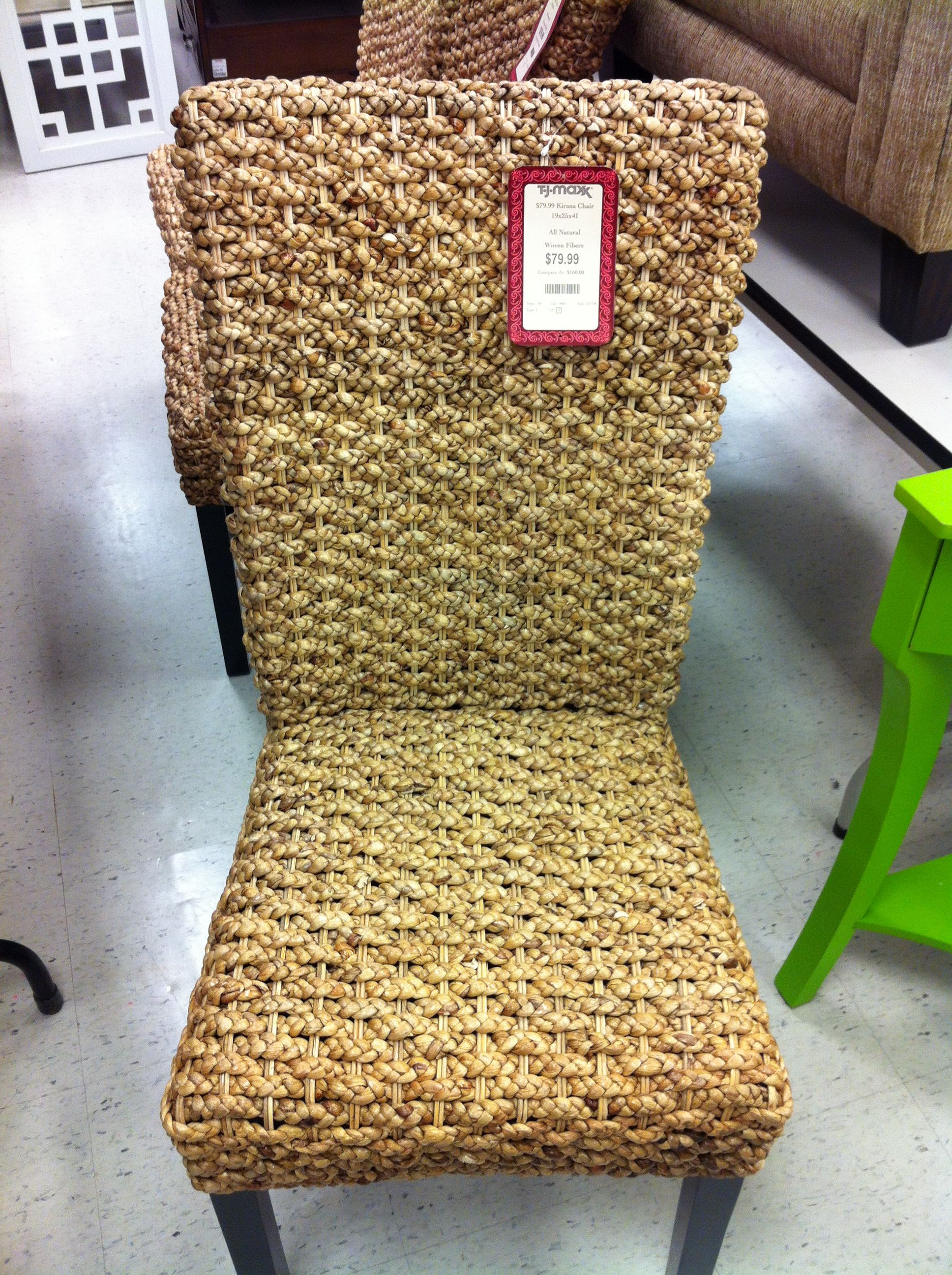 Kirana chair, woven reed chair. Maybe for dining room? 79