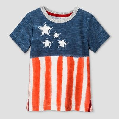 Toddler Boys' Flag T-Shirt Genuine Kids from OshKosh Blue 4T