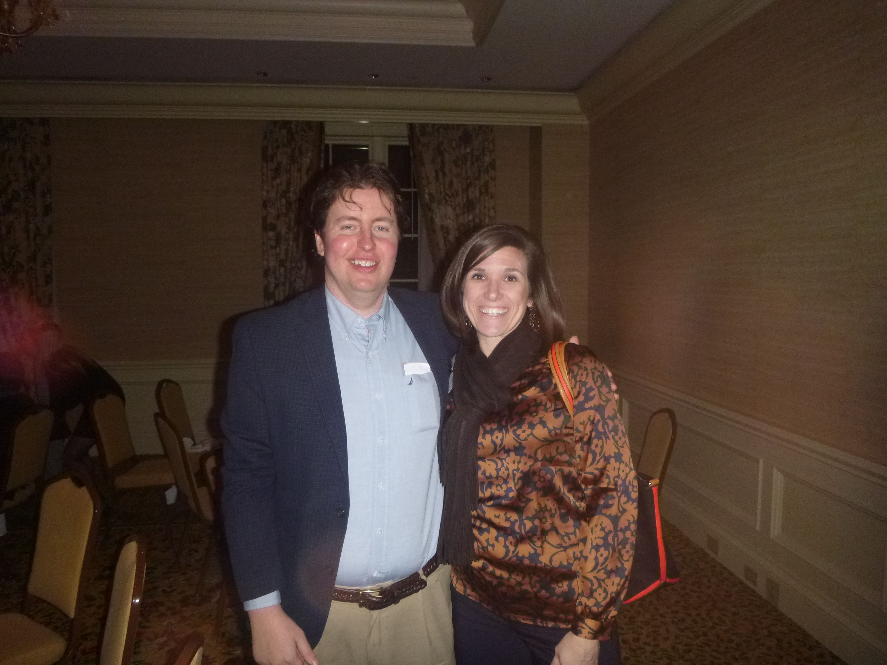 #Lawyer Evan Guthrie with Elizabeth Owen of Morton  Gettys at the South Carolina Bar Leadership Academy Dinner at the Sanctuary Middleton Room at the South Carolina Bar Convention in Kiawah Island, SC on Saturday January 25, 2014