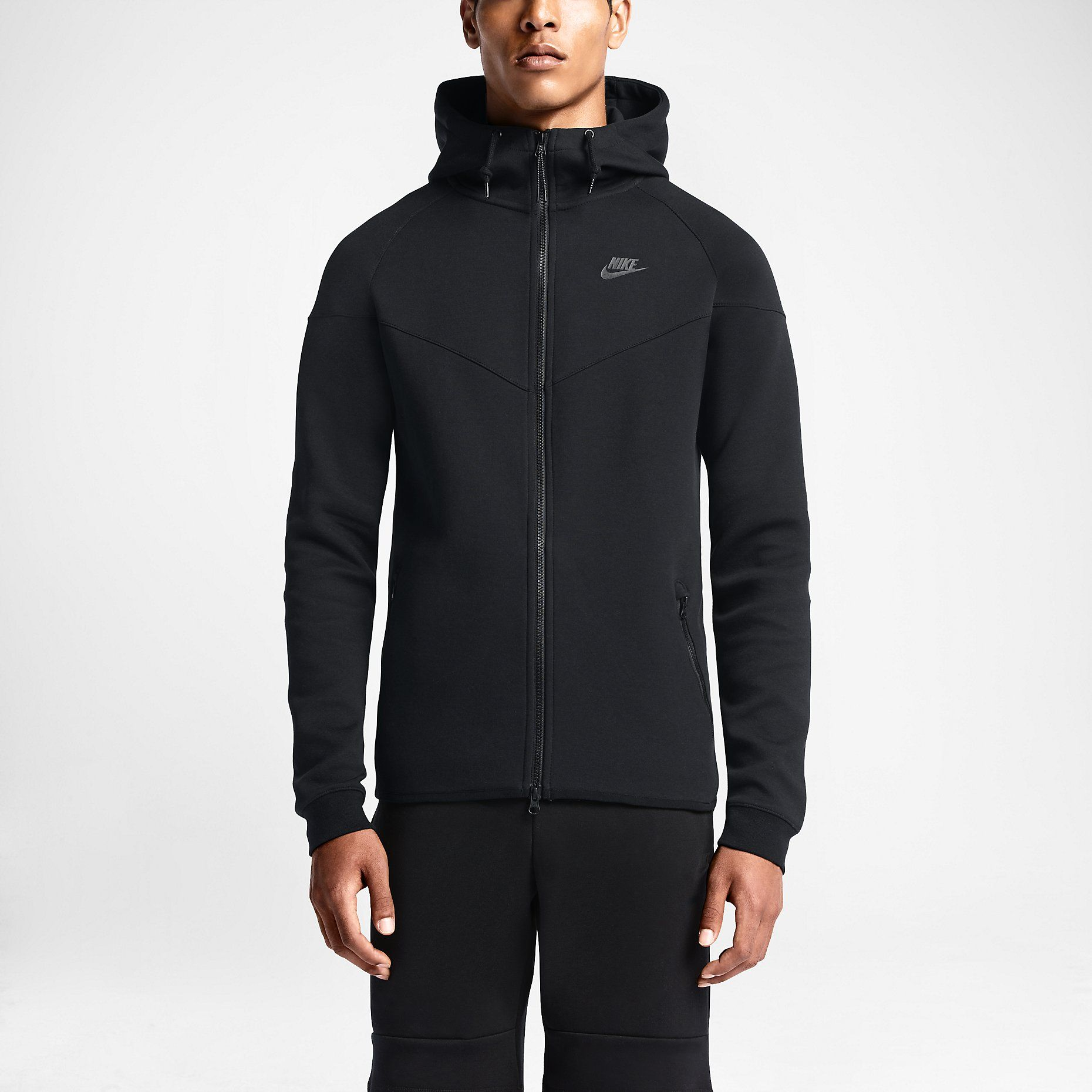 Nike Tech Fleece Windrunner Mens Hoodie Jacket L Black 545277 011