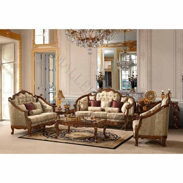 Luxury Upholstered Formal Living Room Furniture Traditional Sofa ...