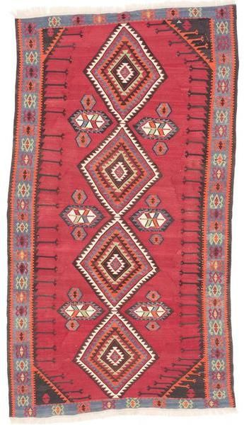 ecarpetgallery Handmade Persian Kashkuli Red Wool Kilim Rug (5'8 x 10'2)
