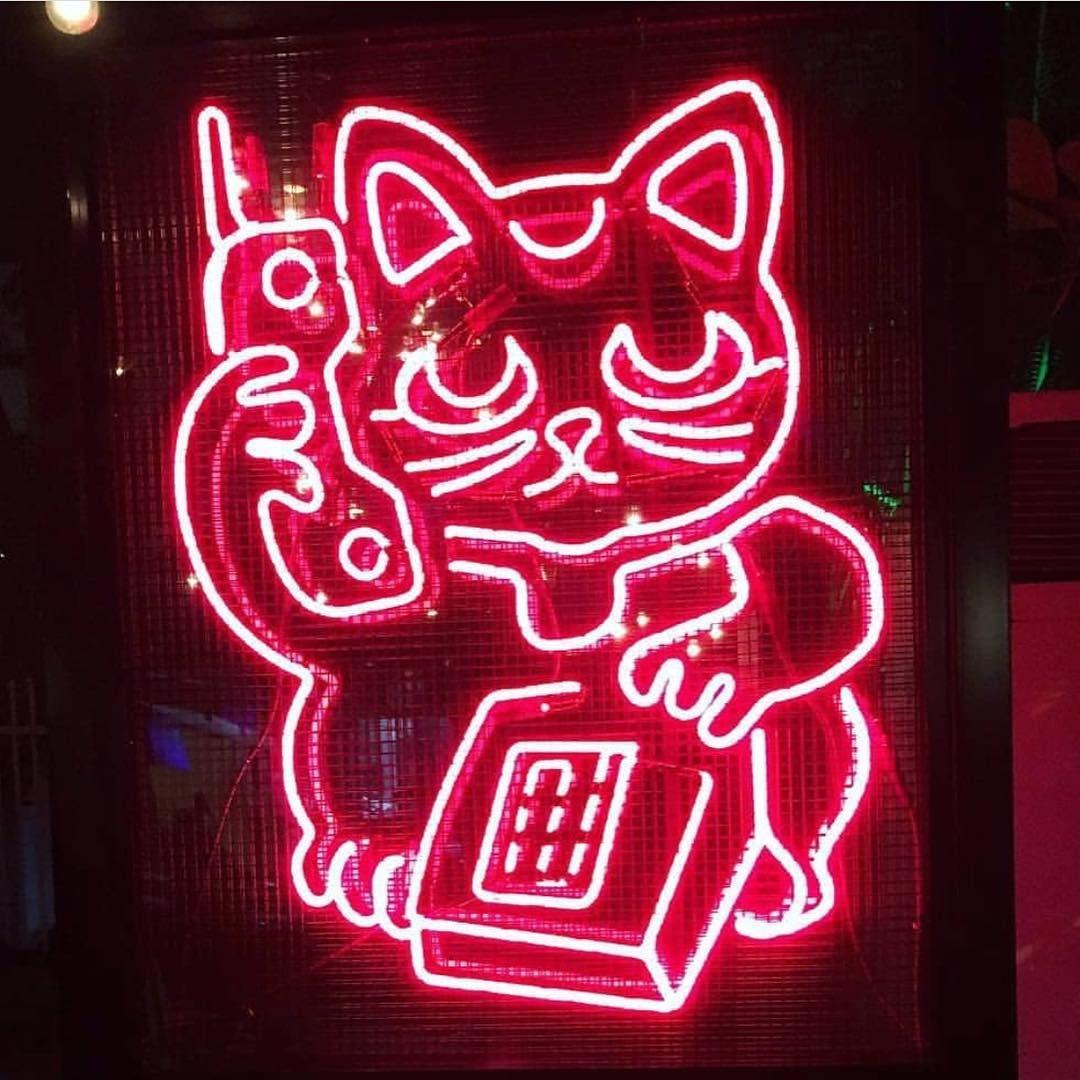 artneverlieschico red neon cat kitty phone light