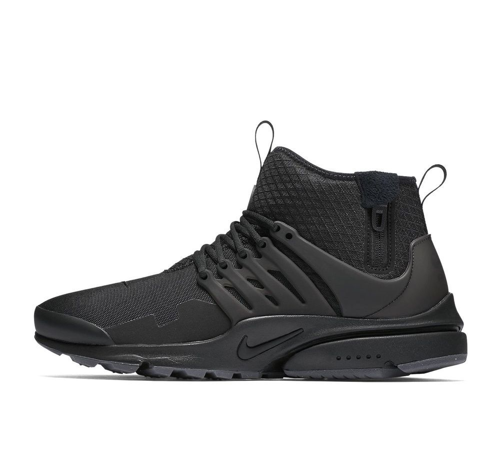 Nike Air Presto Mid Utility Mens Running Shoes 11 Black Dark Grey Nike Runningshoes Running Shoes For Men Black Running Shoes Nike Air Presto