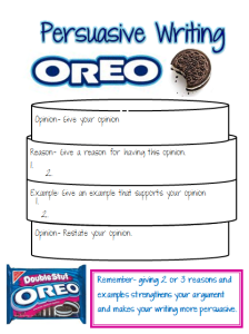 Persuasive writing: Oreo | Language, Texts and Graphic ...