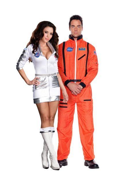 Space Case Astronaut and Orange Astronaut Couples Costumes ...