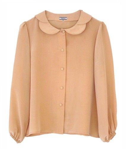 pixie's silk petal blouse / nadinoo