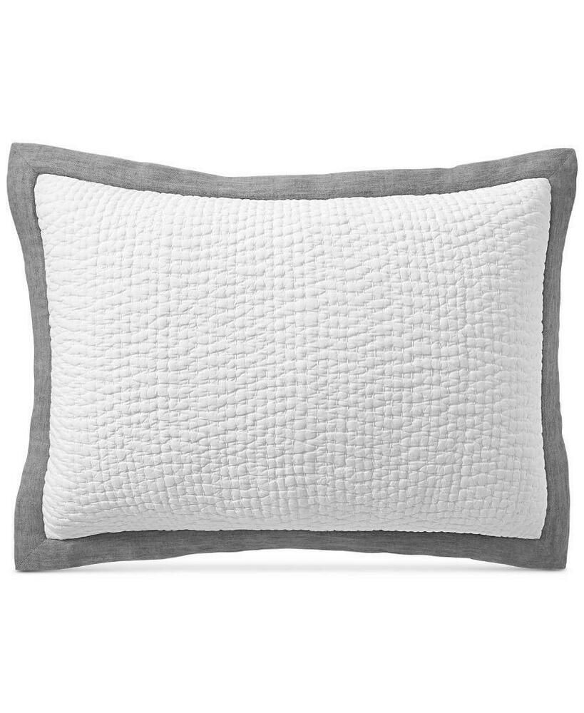 Hotel Collection Voile Linen Cotton Grey Quilted King Sham 135 Hotelcollection Contemporary Hotel Collection King Quilt Pillow Shams