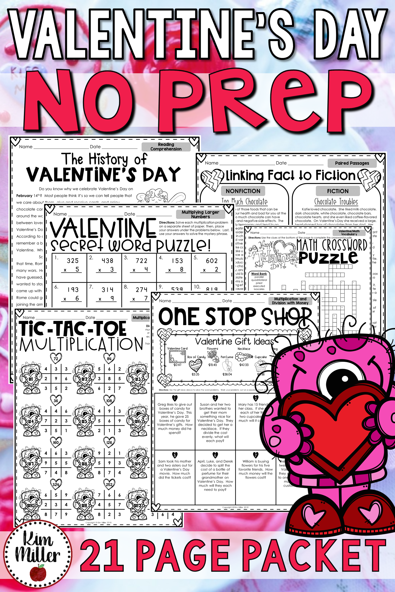 Valentine S Day Activities No Prep Reading And Math