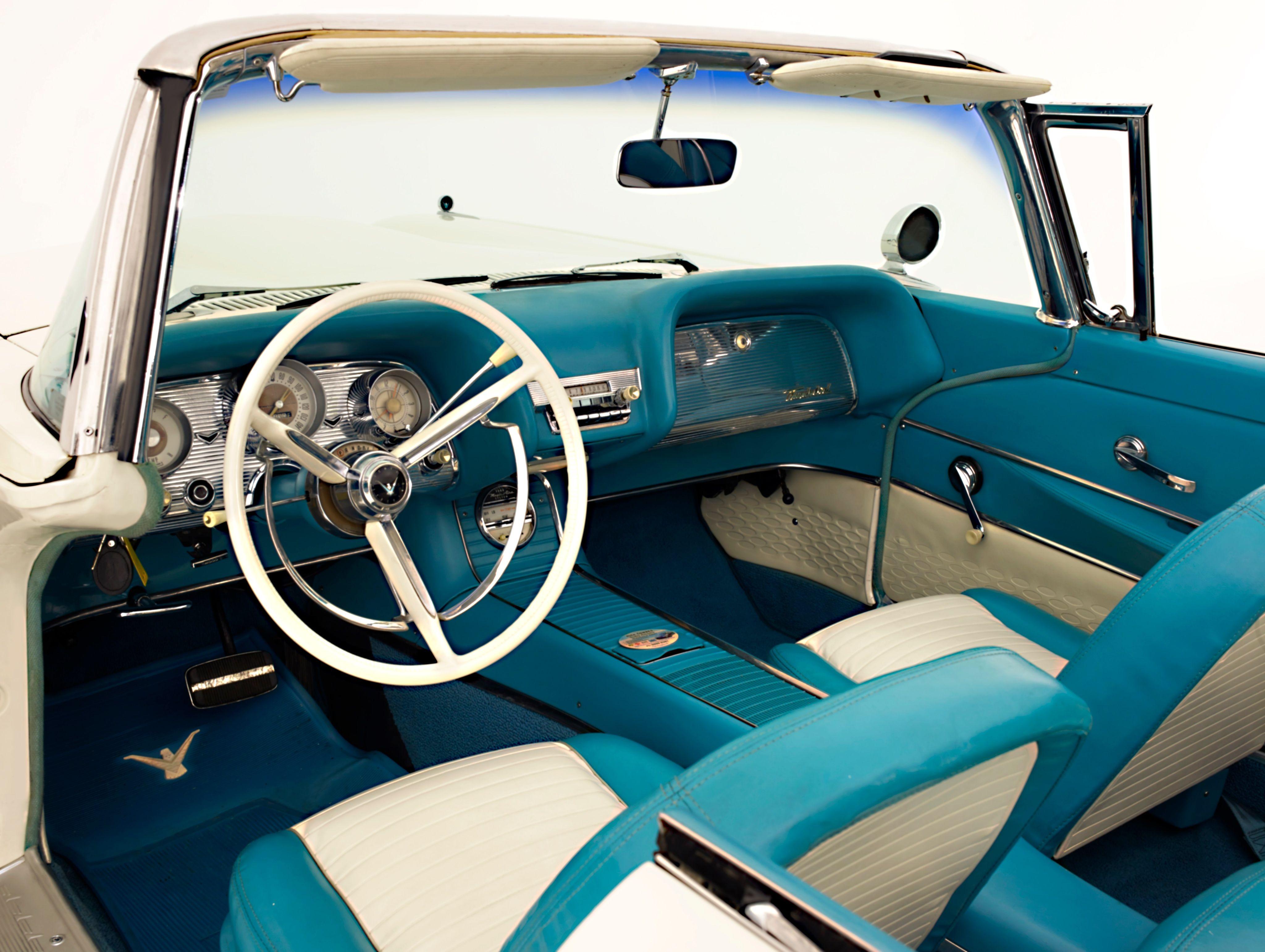 1959 Ford Thunderbird Interior Ford Thunderbird Beautiful Cars Thunderbird