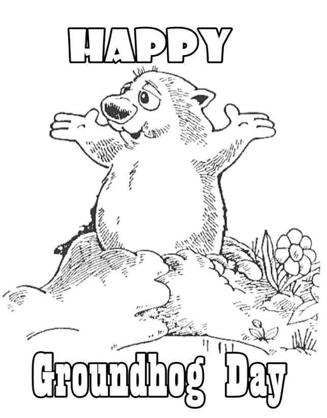 happy groundhog day malvorlagen - coloring sheets for kids