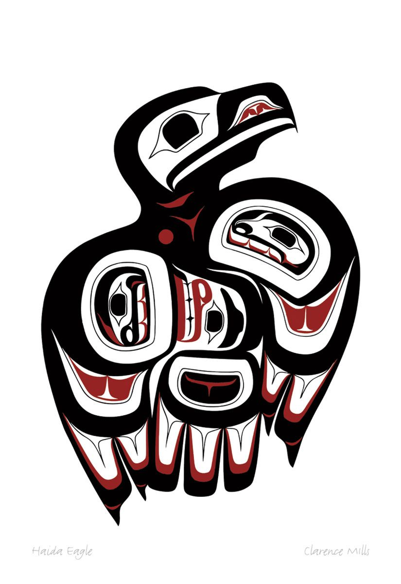 Haida eagle by clarence mills northwest coast native art haida eagle by clarence mills biocorpaavc Image collections