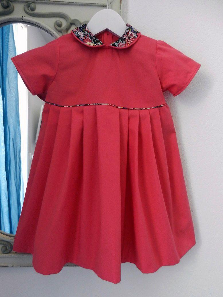 Robe rose col claudine