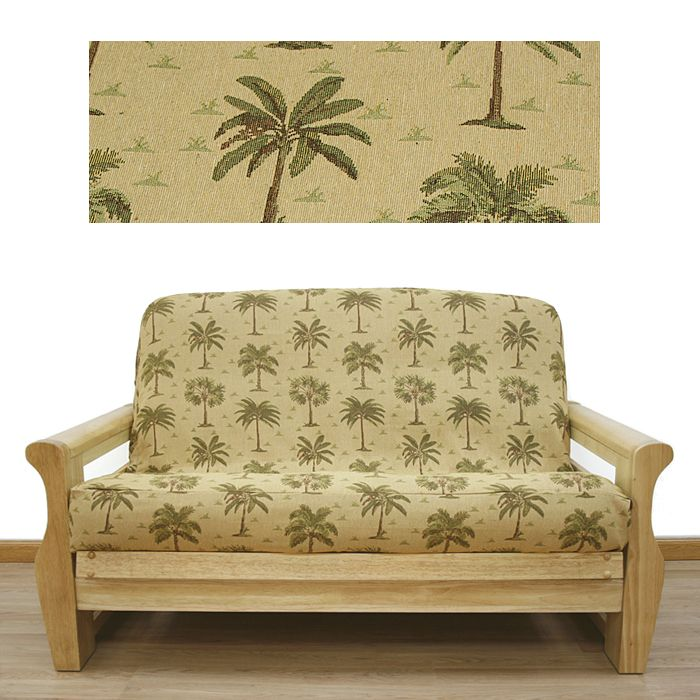 Futon Cover In Desert Palm Fabric Is A Tapestry Depicting Of Palm