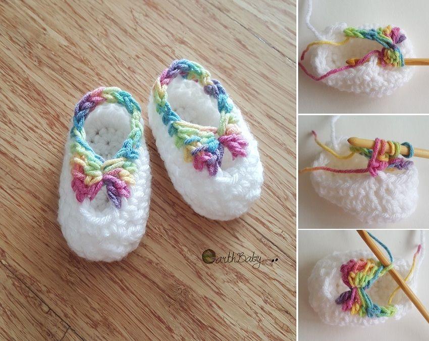 CROCHET BOOTIES WITH BOW | crochet | Pinterest | Ganchillo ...