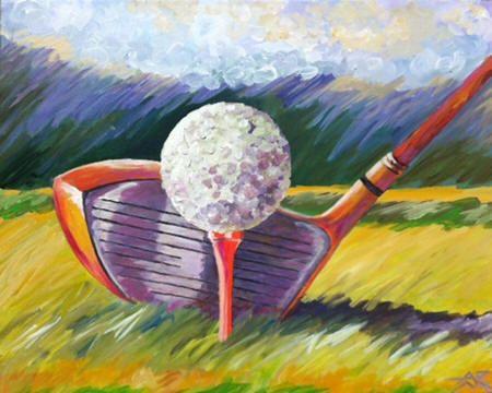 Golf Ball 2 Painting Ideas Need A Hobby Pinterest Golf Art