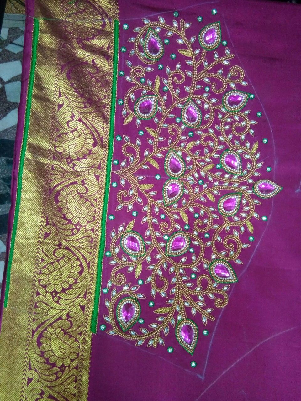 Pin by shree kalpanaus boutique on maggam work blouse designs