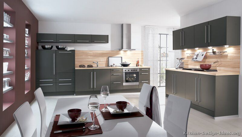 Contemporary Grey Kitchen modern gray kitchen cabinets with white laminate top, splash of