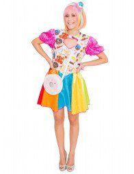 kleid candy mix mit Ärmeln  kleider kleid farbe beinstulpen