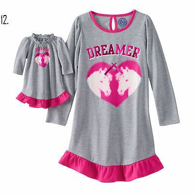dc0fae36ab Girl-4-14-and-Doll-Matching-Nightgown-Pajama-Clothes-American-Girls-Dollie- Me