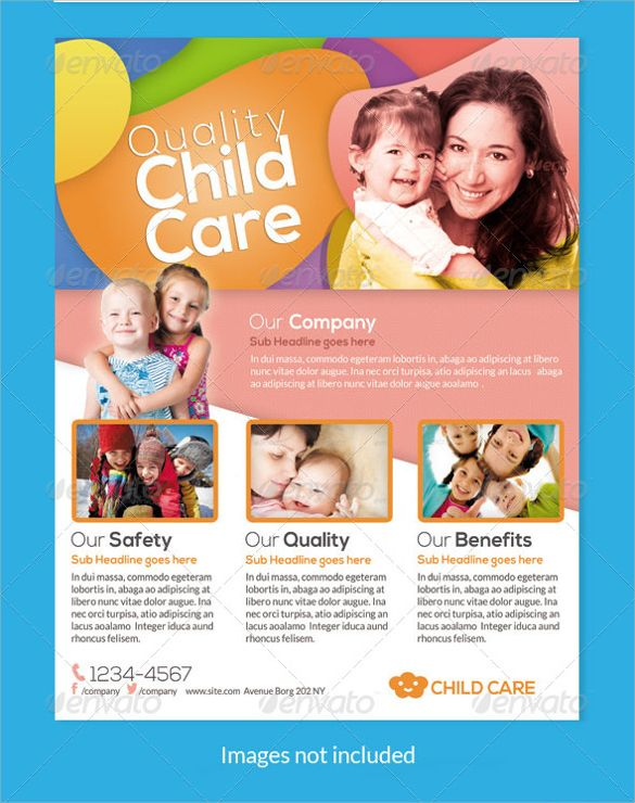 Fantastic Daycare Flyer  Kids Rooms    Flyer Template