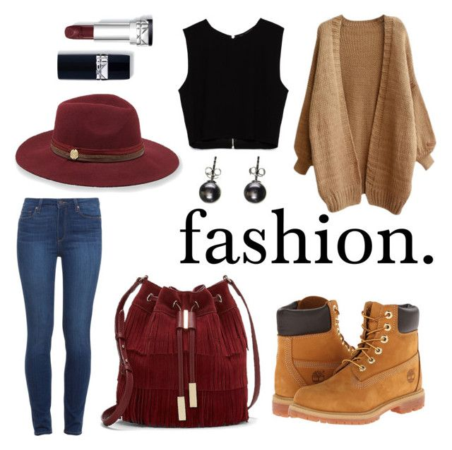 """""""fashion"""" by ellie-handibode ❤ liked on Polyvore featuring Vince Camuto, Paige Denim, Timberland and Zara"""