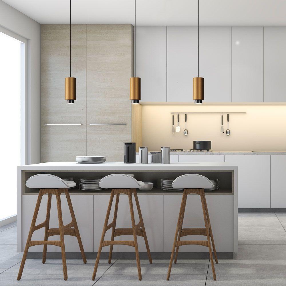 Moderne Led Strahler Hangeleuchte Stilvolle Beleuchtung Fur Den Kuchentresen Kuche Entwerfen Hangeleuchte Kuche Tresen