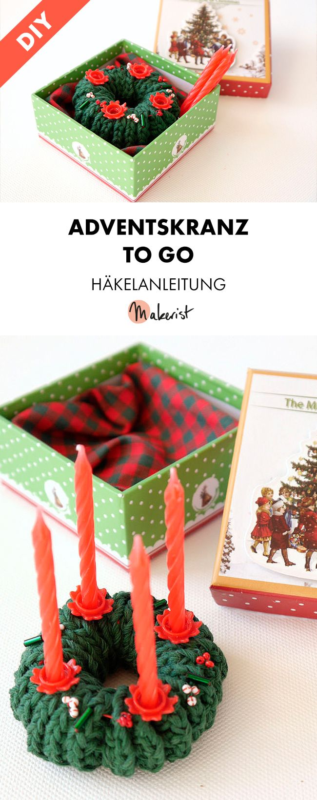 diy adventskranz h keln h kelanleitung via. Black Bedroom Furniture Sets. Home Design Ideas