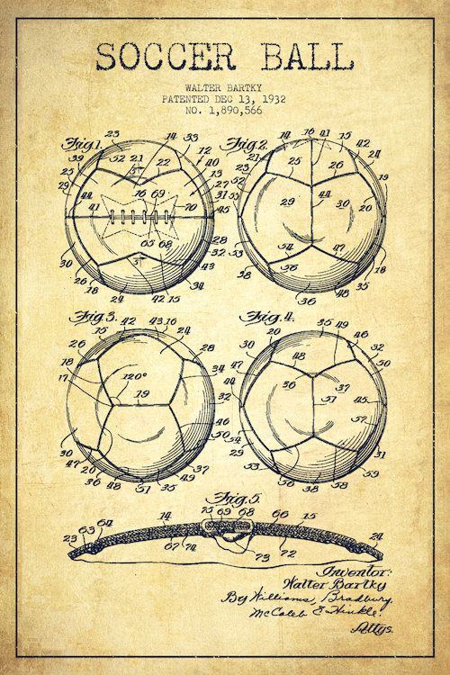 Bartky soccer ball vintage patent blueprint art print by aged bartky soccer ball vintage patent blueprint art print by aged pixel malvernweather Image collections