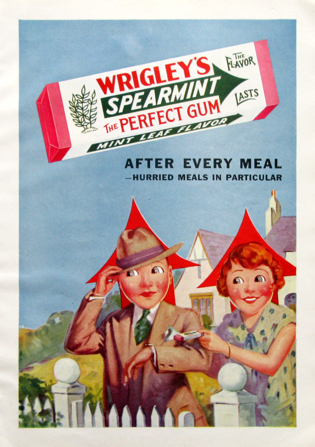 Vintage Chewing gum Reproduction poster Wall art. Wrigleys the flavour last