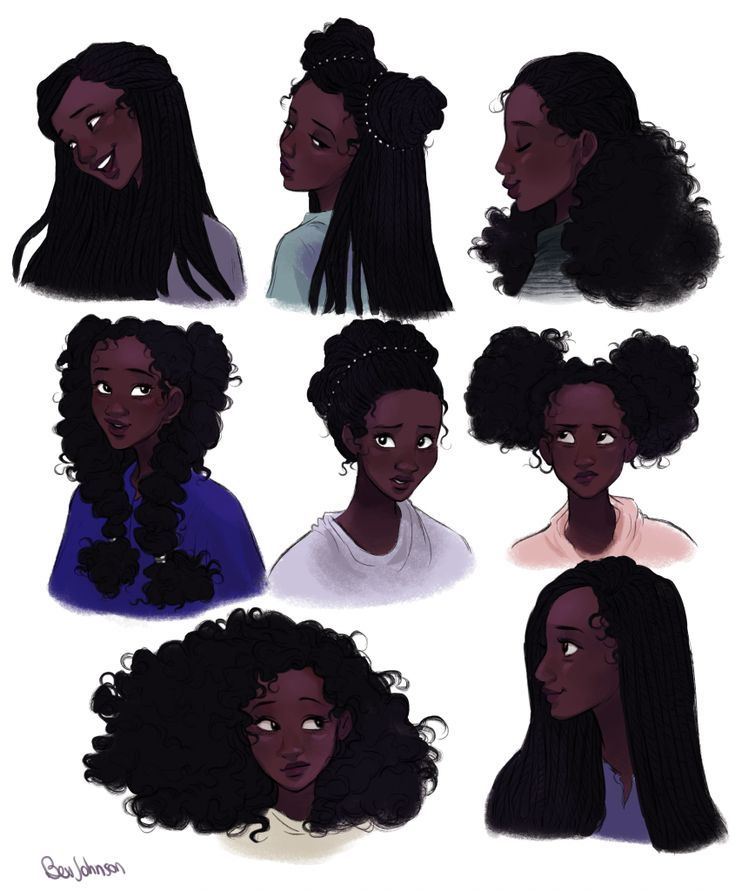Photo of Draw hairstyles for your characters