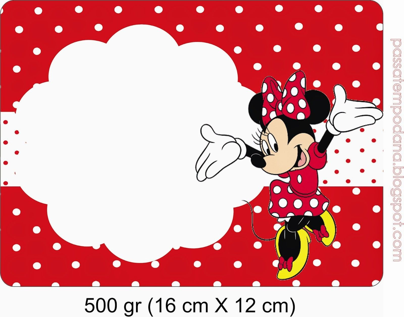 Minnie Red and White Polka Dots: Free Printable Invitations and ...