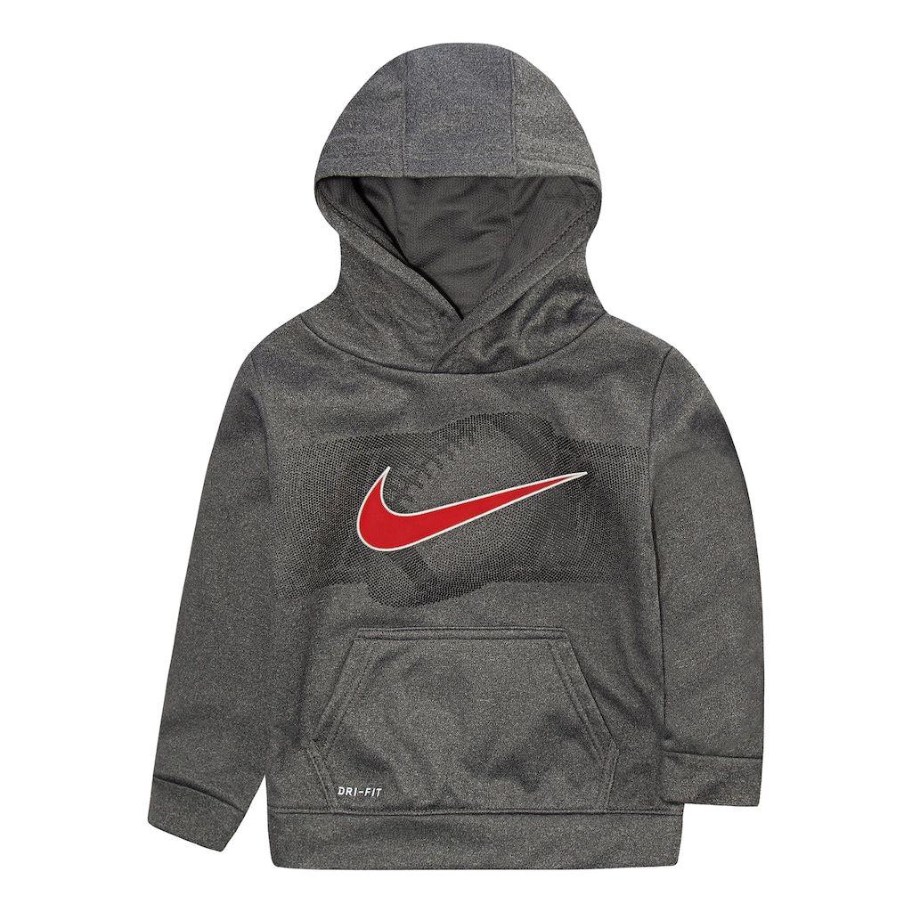 san francisco 148e8 1e21f Toddler Boy Nike Dri-FIT Football Logo Hoodie, Grey