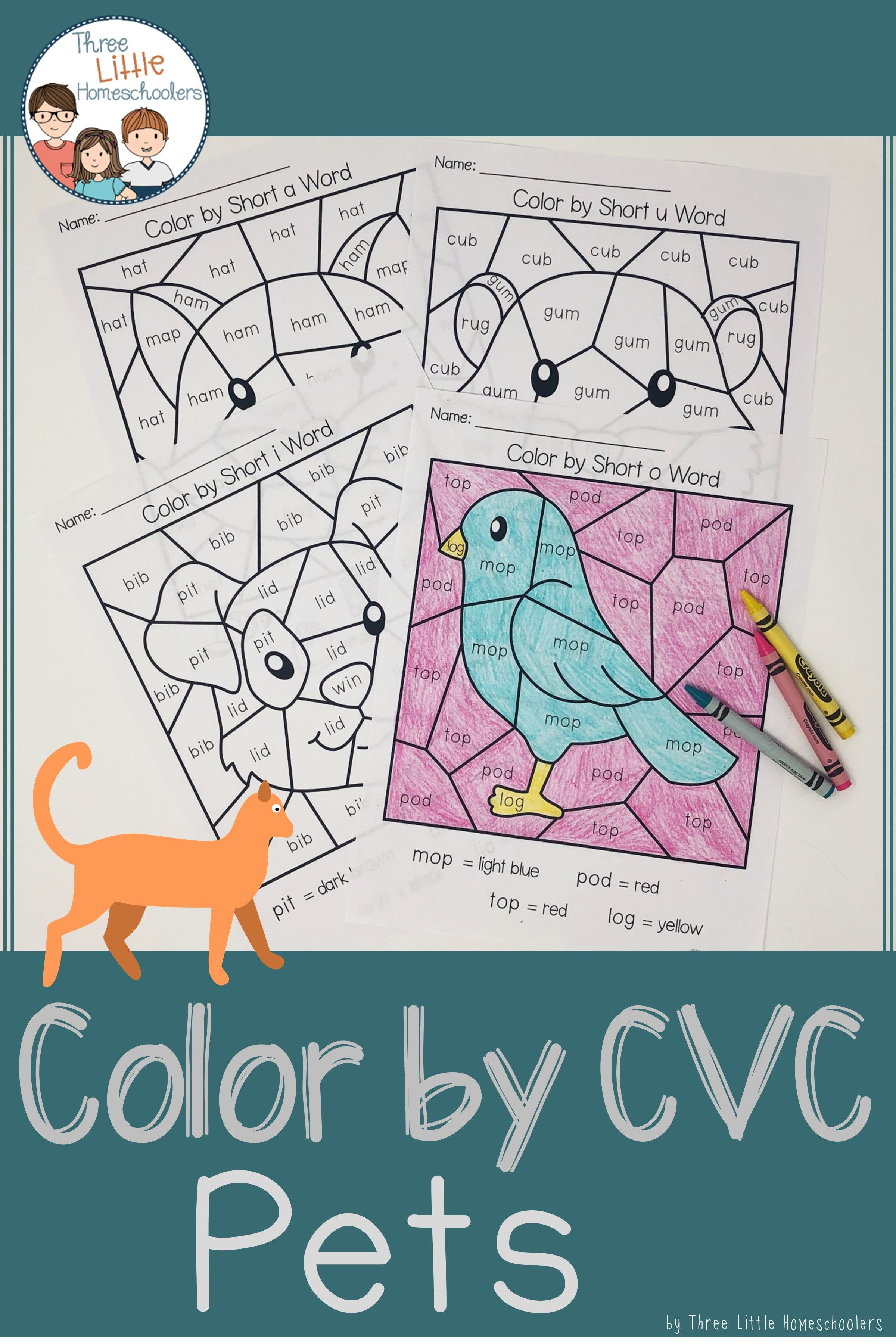 Pets Color By Cvc Word