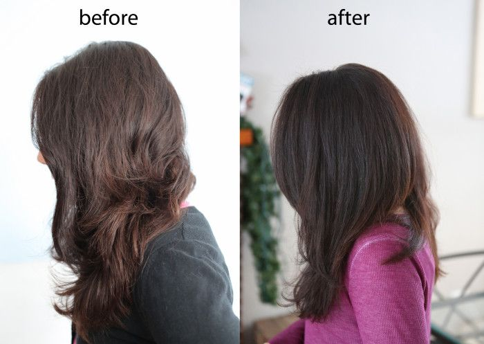 Before And After Henna Caca Noir For Dark Brown Hair Hair Hair