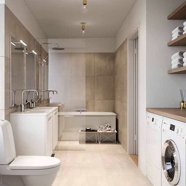 Very nice design for bathroom/laundry combination. # ...
