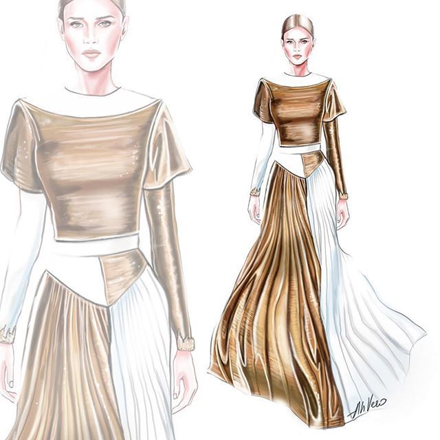 Givenchy | AhVero Illustrations in 2019 | Fashion sketches ...