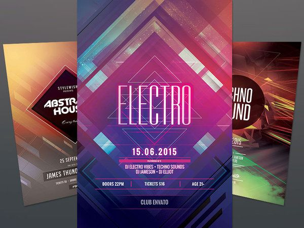 Geometric Flyer Bundle Vol  Design Posters