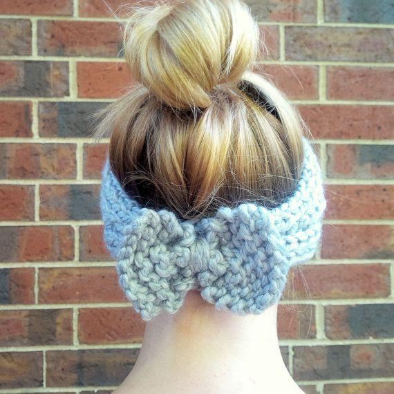 Bow-Back Stirnband stricken und Ohr wärmer von SparklyTwig auf Etsy