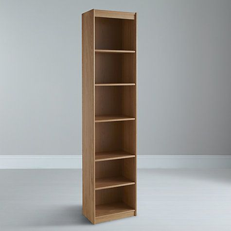 narrow bookcase bookshelf products west elm century image mid c acorn bookcases alternate
