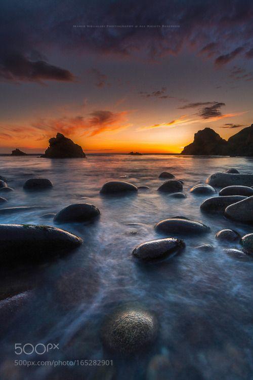 Bloody Forleand light by figuss33 sky beauty sunset water beach travel blue sun light clouds ocean summer beautiful green ireland done