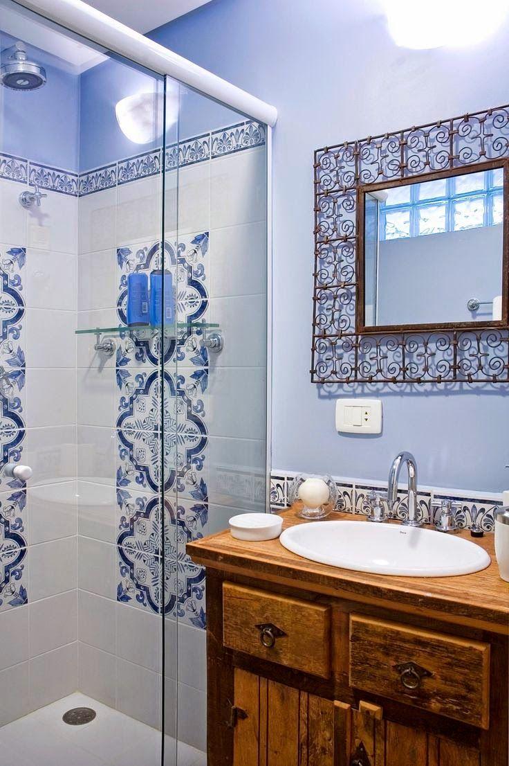 Decora o inspira o r stica para banheiros e lavabos for Llaves rusticas para lavabo