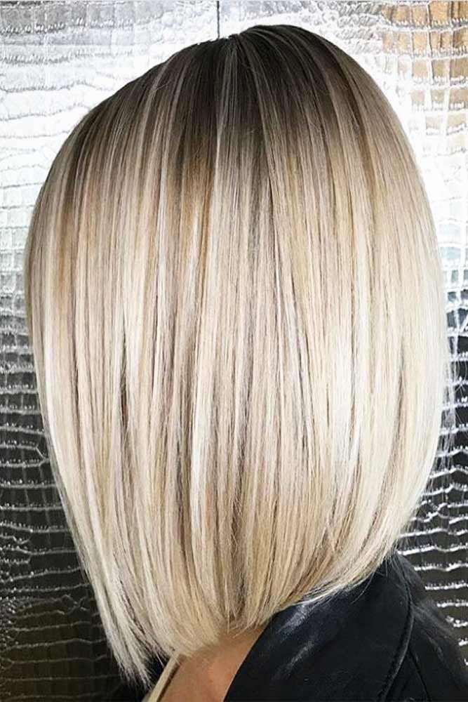 Langer bob blond braun