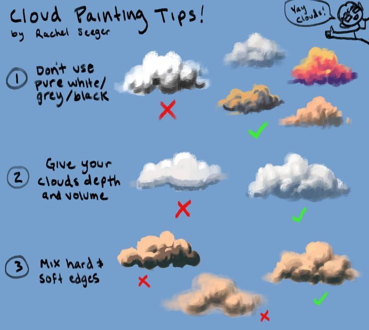 Tipps zum Malen von Wolken von rsautoart  #malen #rsautoart #tipps #wolken #landscapingtips