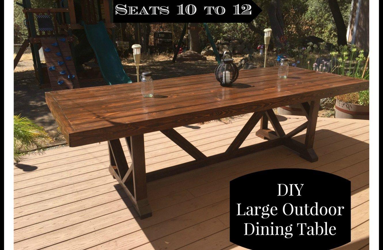 Diy outdoor dining table outdoor dining table diy