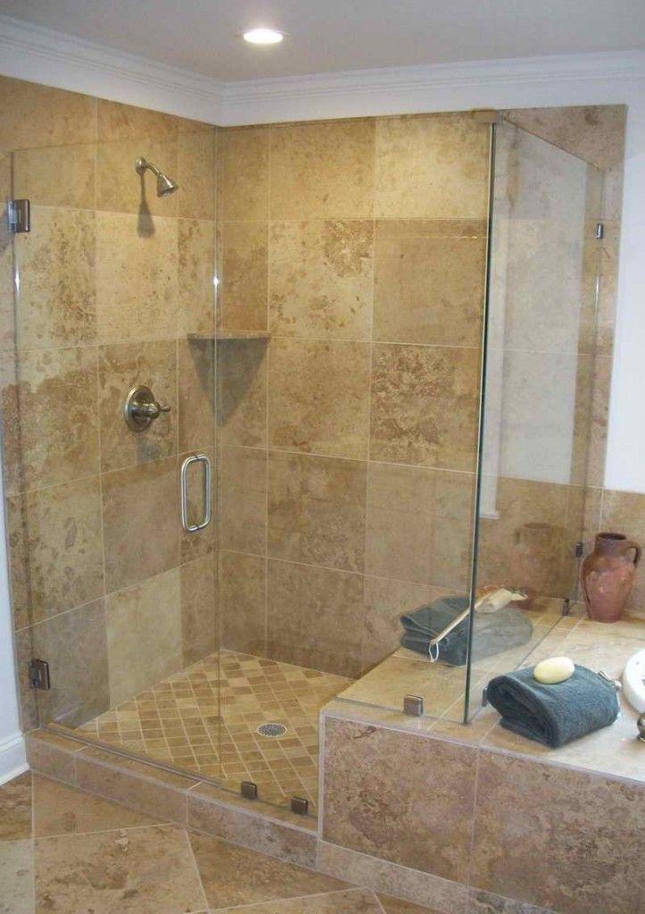 Walk In Showers Country Doorless WalkIn Shower Ideas Master - Shower doors for walk in showers