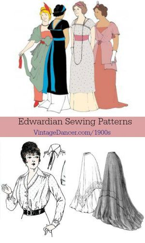 Edwardian Sewing Patterns- Dresses, Skirts, Blouses, Costumes ...
